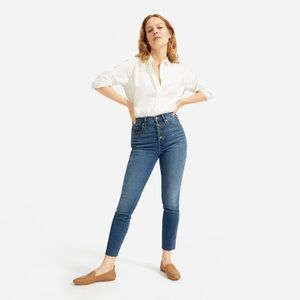 EVERLANE Authentic Stretch High Rise Button Fly
